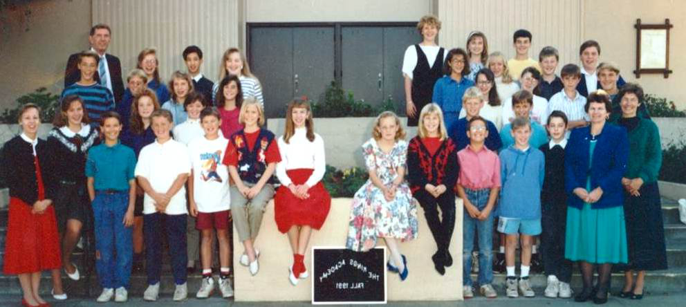 First group of TKA students in 1991 when the independent school opened in Sunnyvale